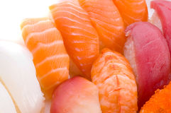 Assortimento dei sushi giapponesi Fotografia Stock