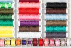 Assortimento del filato cucirino Fotografie Stock