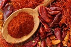 Assortimento del peperoncino rosso Fotografia Stock Libera da Diritti