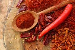 Assortimento del peperoncino rosso Immagini Stock Libere da Diritti