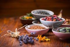 Assortimento del tè della frutta e di erbe Fotografie Stock Libere da Diritti