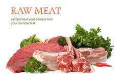 Assortimento della carne grezza fotografia stock