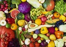 Assortimento della frutta e delle verdure fresche Vista superiore immagini stock libere da diritti