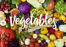 Assortimento della frutta e delle verdure fresche Vista superiore immagine stock