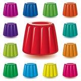 Assortimento della gelatina della gelatina Immagine Stock