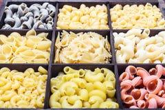 Assortimento della pasta dei colori differenti Fotografia Stock Libera da Diritti