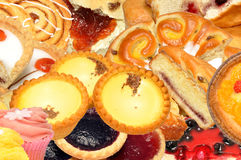 Assortimento della pasticceria e del dolce Fotografia Stock