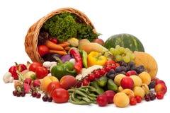 Assortimento della verdura e della frutta Fotografia Stock