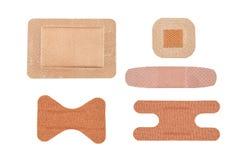 Assortimento delle fasciature adesive Immagine Stock