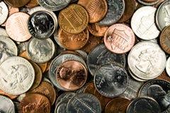 Assortimento delle monete degli Stati Uniti Immagini Stock Libere da Diritti