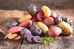 Assortimento delle patate fotografie stock libere da diritti