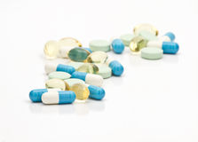 Assortimento delle pillole Immagini Stock Libere da Diritti