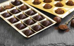 Assortimento delle praline del cioccolato Fotografia Stock
