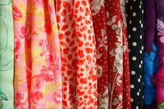 Assortimento delle sciarpe Fotografia Stock