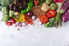 Assortimento delle verdure organiche fresche del mercato dell'agricoltore Fotografia Stock