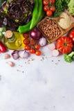 Assortimento delle verdure organiche fresche del mercato dell'agricoltore Fotografie Stock