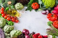 Assortimento delle verdure organiche fresche del mercato dell'agricoltore Fotografie Stock Libere da Diritti