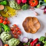 Assortimento delle verdure organiche fresche del mercato dell'agricoltore Immagine Stock Libera da Diritti