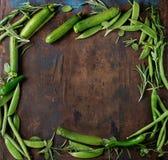Assortimento delle verdure verdi Immagine Stock