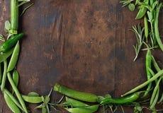 Assortimento delle verdure verdi Fotografie Stock Libere da Diritti