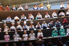 Assortimento di Caganers Tradizione ornamentale di catalano di Natale Deposito di Natale fotografia stock libera da diritti