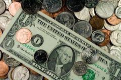 Assortimento di valuta degli Stati Uniti fotografie stock