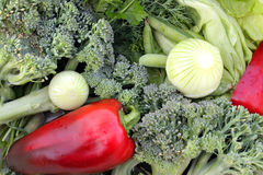 Assortimento di verdi e delle verdure Fotografia Stock Libera da Diritti