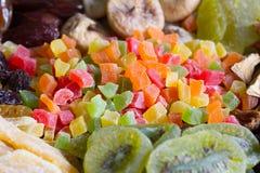 Assortimento misto di struttura del fondo di frutti canditi Immagine Stock Libera da Diritti