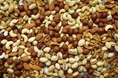 Assortmen von Nüssen - gesunder Snack Lizenzfreies Stockfoto