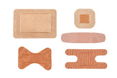 Assortment of adhesive bandages Stock Image