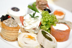 Assortment of aperitif Stock Photo