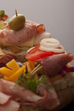 Assortment of appetizers Stock Image