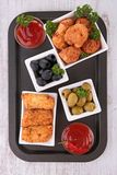 Assortment of appetizers Royalty Free Stock Photography