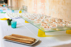 Assortment Appetizers and finger food Stock Images