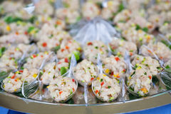 Assortment Appetizers and finger food Stock Photos