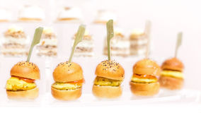 Assortment Appetizers and finger food. Variety Appetizers and finger food Stock Photo
