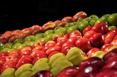 Apples Display. Assortment of apples on display at a market Stock Image