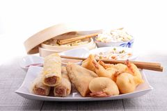 Assortment of asia food Stock Images