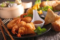 Assortment of asian cuisine Stock Image