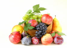 Assortment autumn harvest fruit Royalty Free Stock Photos