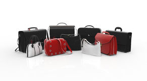 Bags and suitcases. Assortment of bags and suitcases royalty free illustration