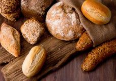 Assortment of baked bread Stock Photos