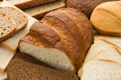 Assortment of baked bread Royalty Free Stock Images