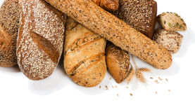 Assortment of baked bread, above view Royalty Free Stock Image