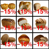 Assortment of Baked Bread. Appetizing bake baked baker bakery baking bead bread cereal corn cu delicious stock photo