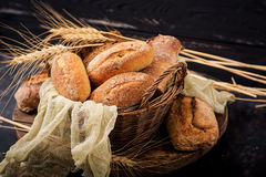 Assortment of baked bread and bun Royalty Free Stock Images