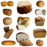 Assortment of baked bread. Stock Photos