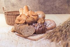 Assorted bread and pastry royalty free stock photos