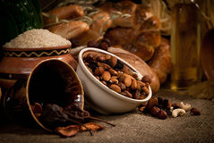Healthy  meal with bread , cereals Stock Photo