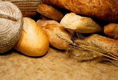 Assortment of baked bread Royalty Free Stock Photos